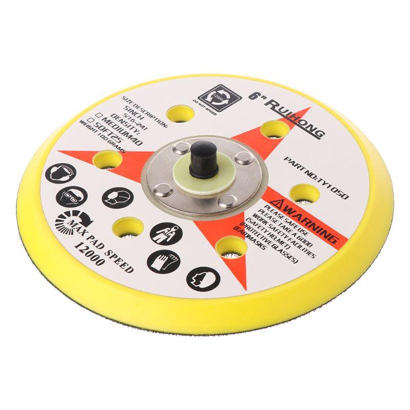 6 Inch 6 Holes Backup Sanding Pad Sanding Disc Backing Pad 5/16