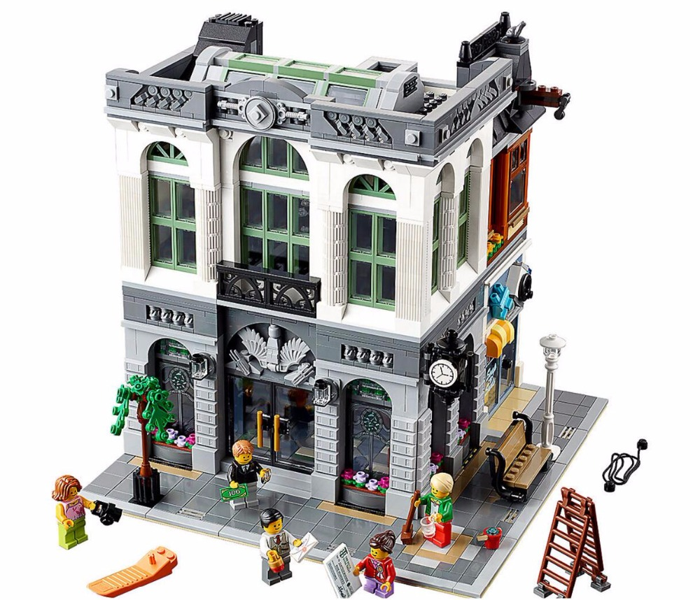 15001 Brick Bank Creator Series City <font><b>Legoinglys</b></font> Street Model 2413pcs Building Blocks Bricks Toys <font><b>10251</b></font> Gift For Children image