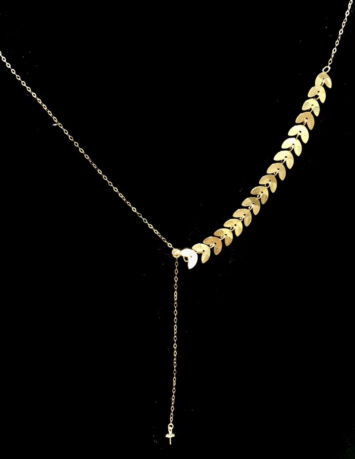 New Arrival NICE QUALITY Adjustable 18K Yellow Gold Necklace Chain Mountings Settings Fittings AU750 Jewelry Nice Women's Gift