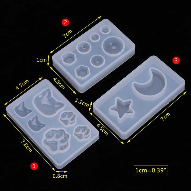 Silicone Mold DIY Crafts Claw Moon Geometry Mirror For Jewelry Making Decorative