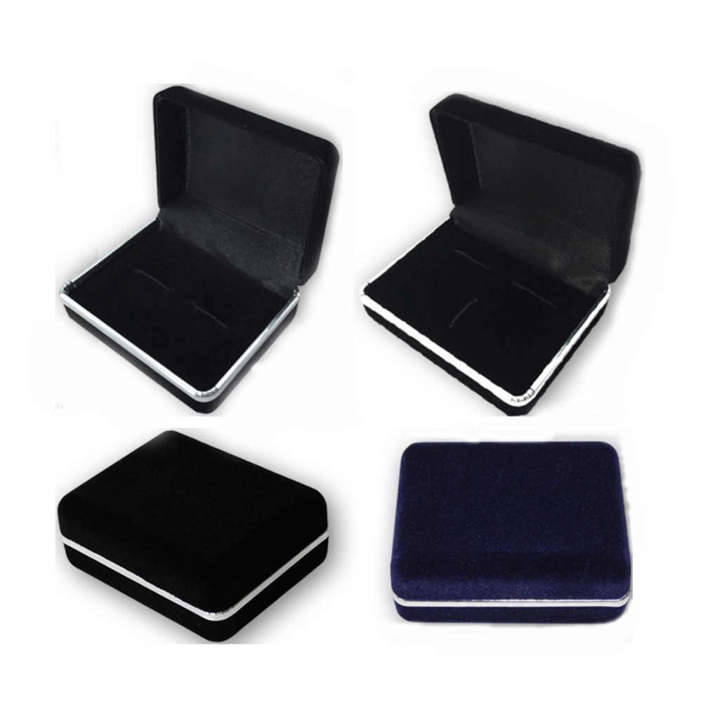 Boutons de manchette bijoux rangement organisateur Case bouton de manchette paquet affichage support de la boîte anneau boucle d'oreille affichage boîte plateau vitrine pour goujons
