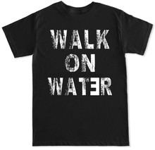 WALK ON WATER EMINEM BEY HIP HOP RAP TRAPPOLA di MUSICA DJ REVIVAL DRAKE MENS T SHIRT(China)
