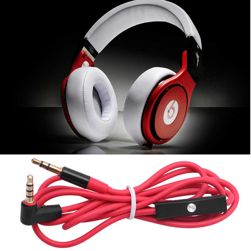 3.5 Mm Tombol L Câble Audio Cordon Avec Mikro untuk Beats By Dr Dre LX9A