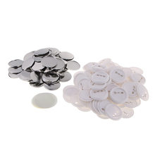 100 Stuks 58 Mm Button Onderdelen Button Maker Onderdelen Top/Bottom Cover Clip Pin Knop Onderdelen Voor Badge Maker machine Craft Maken Mold Kit(China)