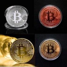 Engraçado bitcoin collectible btc moeda pirata tesouro moedas adereços brinquedos para festa de halloween cosplay crianças