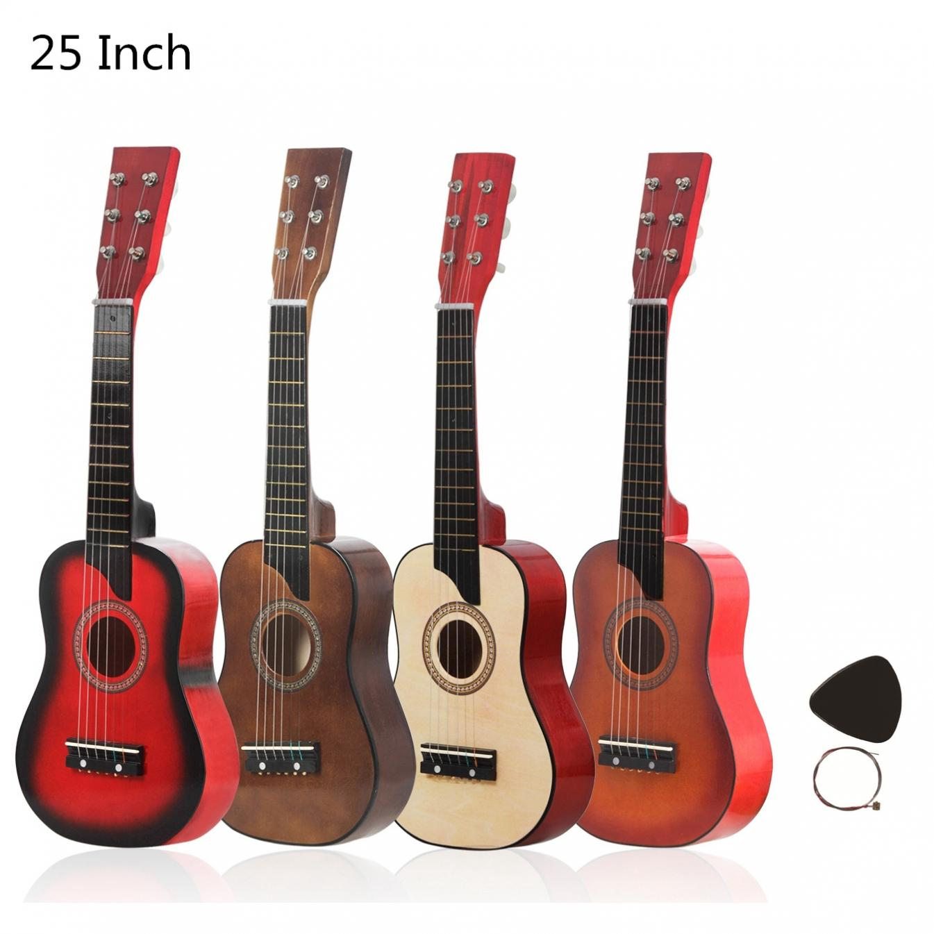 25 Inch Basswood Acoustic Guitar with Pick Strings for Children and Beginner Send gifts Musical Stringed Instrument hot image