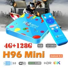 smart tv box android box 9.0 h96 mini media Player Quad Core H.265 Wifi HD Youtube 4K Set top box Android iptv boxes HDMI 2.0 vmade v96 smart mini iptv box hd 4k h 265 android 7 1 allwinner h3 quad core 2g 16g 1 5g wifi google tv media player set top box