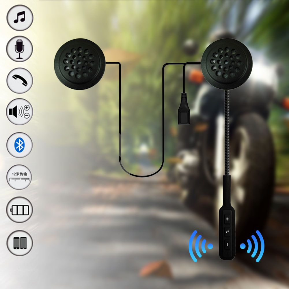 Hands Free Helmet Headset HIFI Smart Earphones Wireless Bluetooth Motorcycle With Microphone Long Standby Reminder Portable