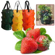 Sac de plantation de fraises, conteneur créatif à bouche multiple, sac de plantation de plantes de racines, sac de jardinage latéral pour la maison