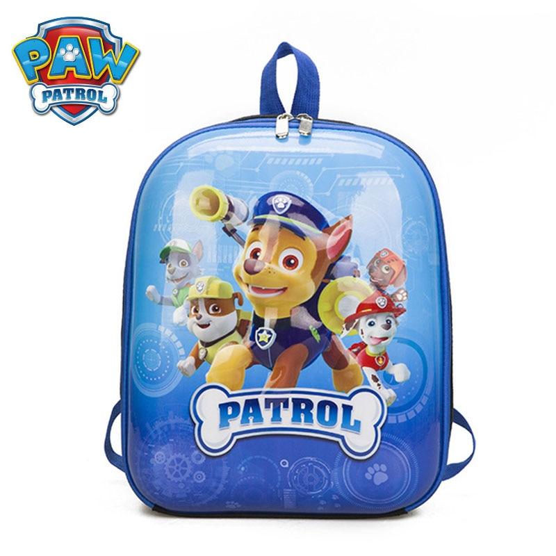 PAW Patrol Children Cartoon Kindergarten Bag School Bag EVA Plush Backpacks For Kids Birthday Christmas Gift
