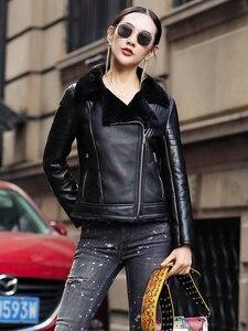Image 2 - AYUNSUE 100% płaszcz z prawdziwej skóry owczej kobiet naturalne futro z owczej skóry płaszcze 2020 kurtka zimowa kobiety kurtka z prawdziwej skóry MY3742