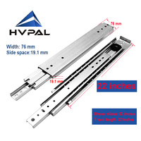 HVPAL 550 mm 22 inches full extenstion 227 kg heavy duty ball bearing industrial drawer slides rails telescopic drawer channel