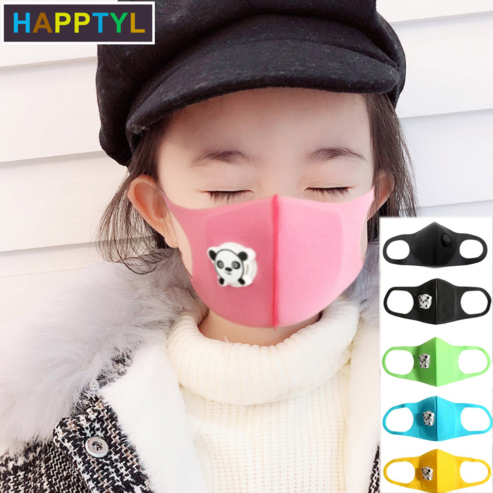 HAPPTYL 1Pcs Mouth Mask Children Kids Thicken Sponge Face Mouth Mask Anti Dust Pollution PM2.5 Respirator With Panda