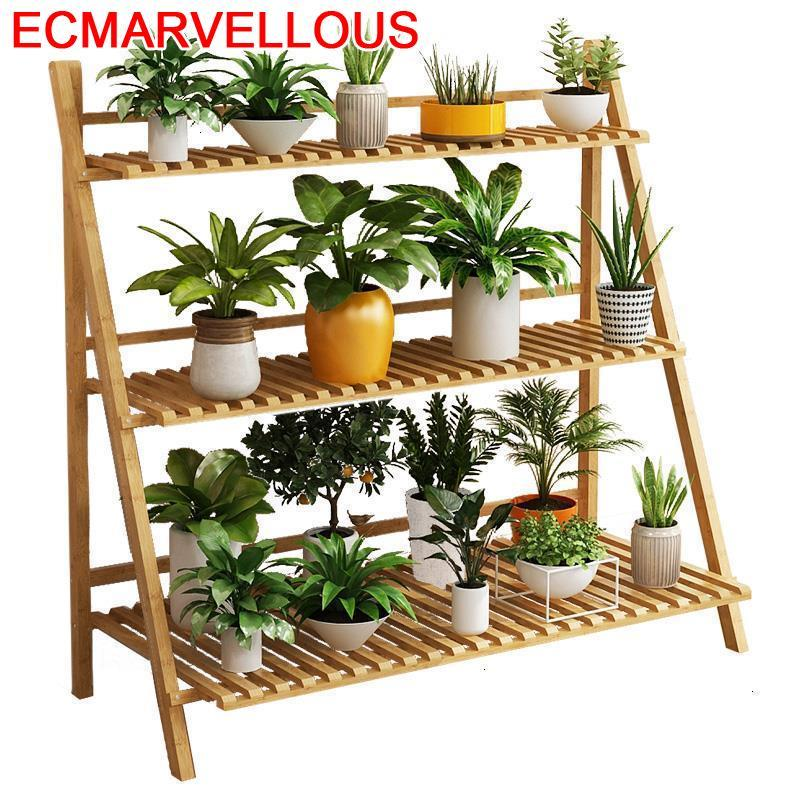 Decorativa Huerto Urbano Madera Estante Para Plantas Outdoor Dekoration Stojak Na Kwiaty Balcony Flower Shelf Plant Stand