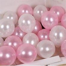 20/50 pçs 10 polegada pérola rosa sliver branco látex balões casamento aniversário dia dos namorados festa de aniversário decoração helium globals