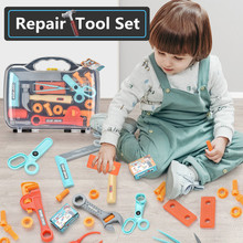 Repair Tool Toys For Boys Pretend Play Toolbox Kit Game Children Toy Drill Screwdriver Engineer Role Play Simulation Tools Set