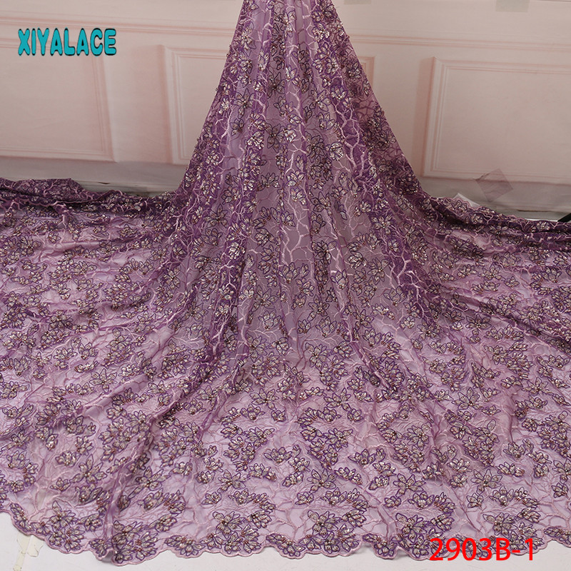 2019 African Lace Embroidered High Quality Switzerland Lace Ftench Lace Agrican Net Fabric French Bridal Lace For Dress YA2903B