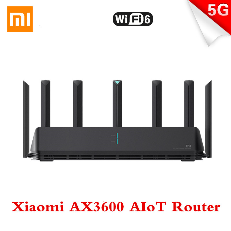 Xiaomi AX3600 AIoT Router Wifi6 Dual-Band 2976Mbs Gigabit Rate WPA3 Security Encryption Mesh Wifi External Signal Amplifier