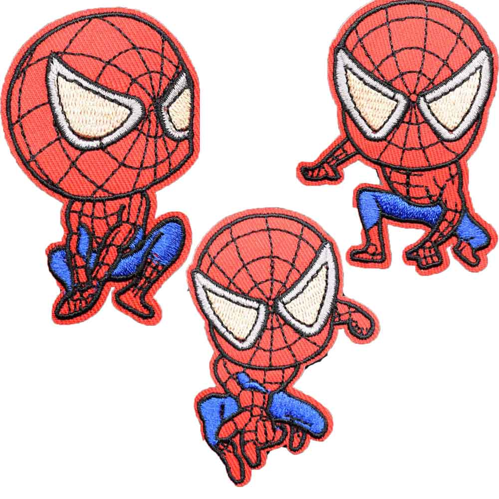 Dessin Anime Rouge Punk Fer Sur Avengers Spiderman Bouclier Brode