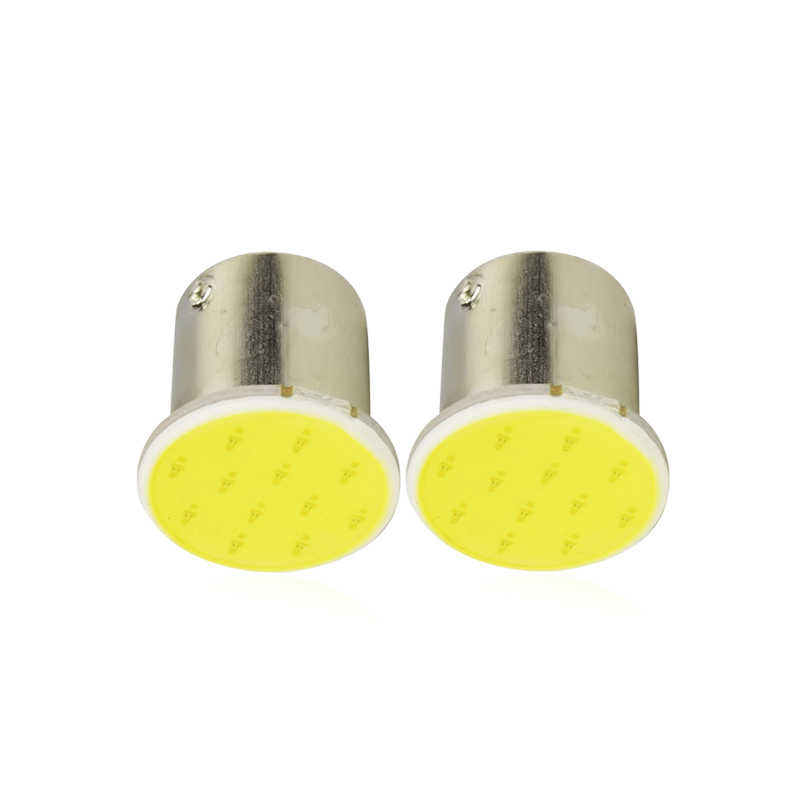 2x P21W 1156 BA15S 1157 BAY15D Auto Led Signal Light Cob Super Heldere Lamp Auto Tail Turn Reverse Parking Brake lamp 12V 12SMD