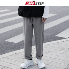 LAPPSTER Mens Harajuku Harem Pants 2020 Mens Hip Hop Solid Harem Pants Male Fashions Sweat Pants Punk Black Casual Trousers cheap LAPPSTER Vintage Hip Hop Track Pants Japan Style Flat Polyester COTTON Midweight Pockets Broadcloth REGULAR Ankle-Length Pants