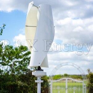 Image 3 - VAWT Turbine éolienne verticale 400w/600w 12v/24v en option, spirale, 3 couleurs, générateur avec contrôleur de charge MPPT pour la maison