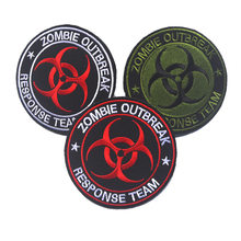 Embroidery Patch Zombie Outbreak Response Team Embroidered Patches Morale Tactical Military Army Armband Clothing Cap Bag Badge(China)