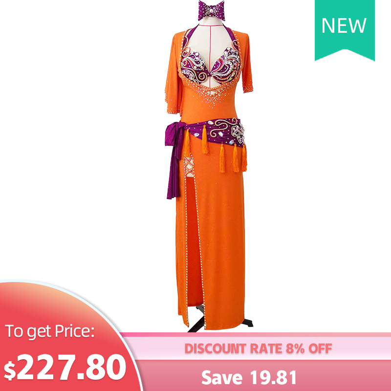 Professional Customization Belly Dance Costumes Upscale Sexy Slim New Oriental Dance Dance Dance Robe Suit