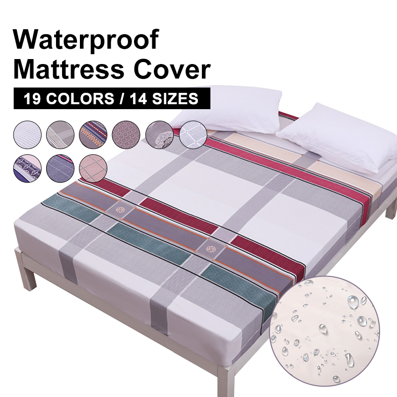 MECEROCK New Coming Waterproof Mattress Pad Protector Mattress Cover Fitted Sheet Separated Water Bed Linens With Elastic Rubber