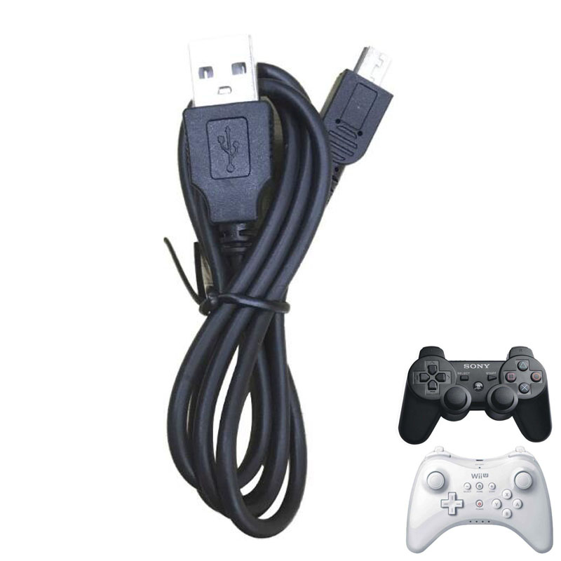 Mini usb charger Power Cable Charging Cord Wire For Sony Playstation Dualshock 3 PS3 Controller Nintend WIIU Wii U Pro Gamepad(China)