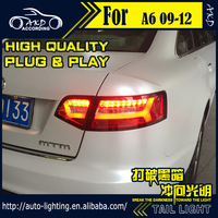 AKD Car Styling Tail Lamp for Audi A6 Tail Lights 2009 2012 A6L C6 LED Tail Light Signal LED DRL Stop Rear Lamp Accessories
