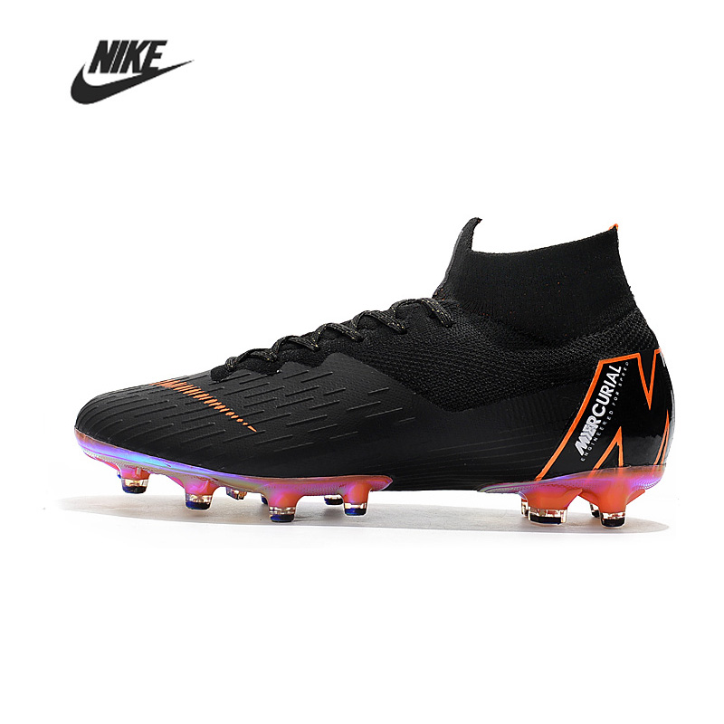 Football Boots Nike Mercurial Superfly VI 360 Elite AG Men Training Football Boots High Ankle Sport Soccer Sneakers AGH01