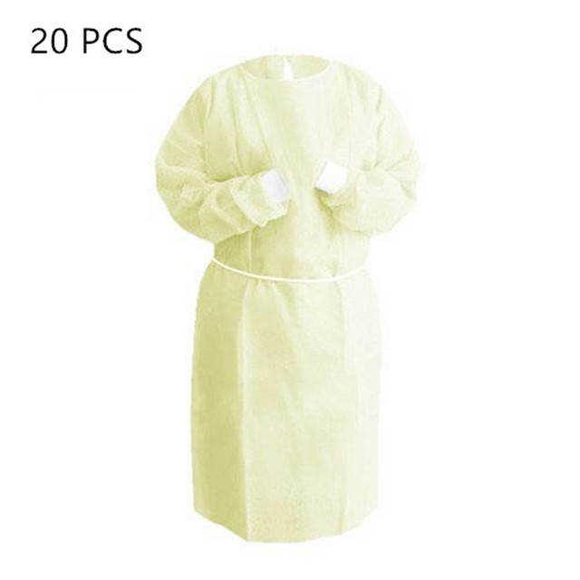 20pcs Disposable Security Protection Clothes Adult Disposable Gowns Dustproof Anti Infection Capes PPE Suit Isolation Gowns