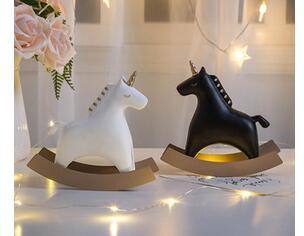 Nordique ins cheval de troie décoration fille coeur créatif maison enfants chambre meuble TV bureau ameublement artisanat Sculpture groupée