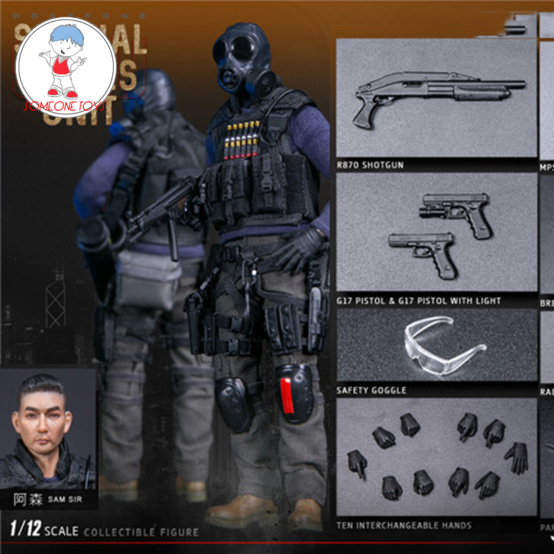 DAMTOYS PES007/PES008  1/12 Scale Hongkong SDU Fai Sir Sam Sir Male Police Action Figures Model Collections