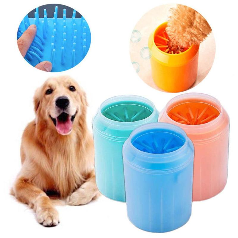 Soft Silicone Pet Foot Clean Cup For Cat Dog Paw Feet Massage Washer Brush