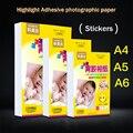 50 шт., самоклеящаяся фотобумага A4/a5/a6 для струйной печати, фотонаклейка, фотобумага