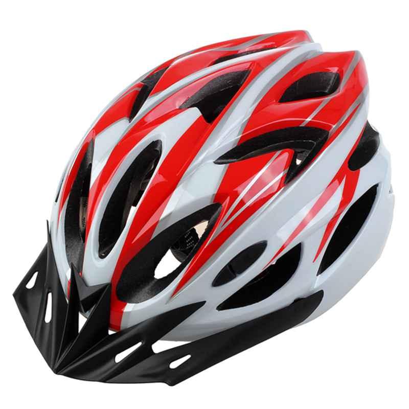 Bicycle Helmet Bike Cycling Adult Adjustable Safety Helmet with Visor Bicycle Helmet     - title=