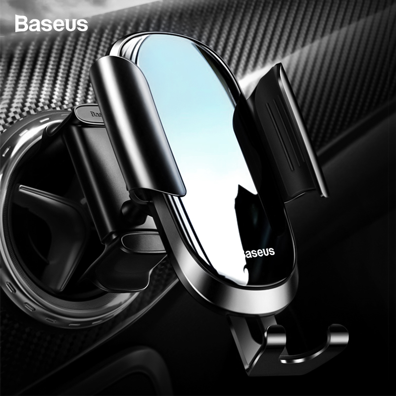 Baseus Car Phone Holder Round Air Vent Mount Holder For IPhone 11Pro Max Samsung Cellphone Gravity Holder Stand For Mobile Phone
