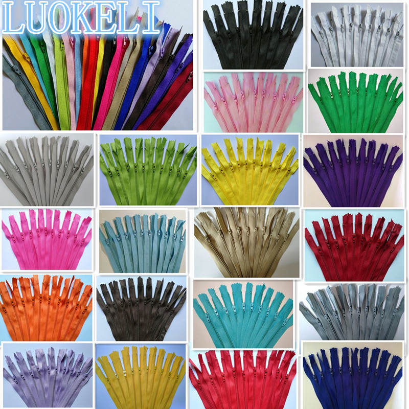 20pcs 3# (3-10 inches) 7.5-25CM closed nylon coil zipper tailor sewing process multi-color optional