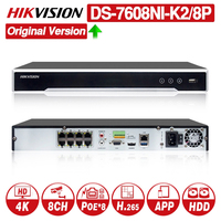 HIKVISION 8/16 CH CCTV System DS 7608NI K2/8P with 8POE Port & DS 7616NI K2/16P with 16POE Port 4K NVR with 2 SATA Interfaces