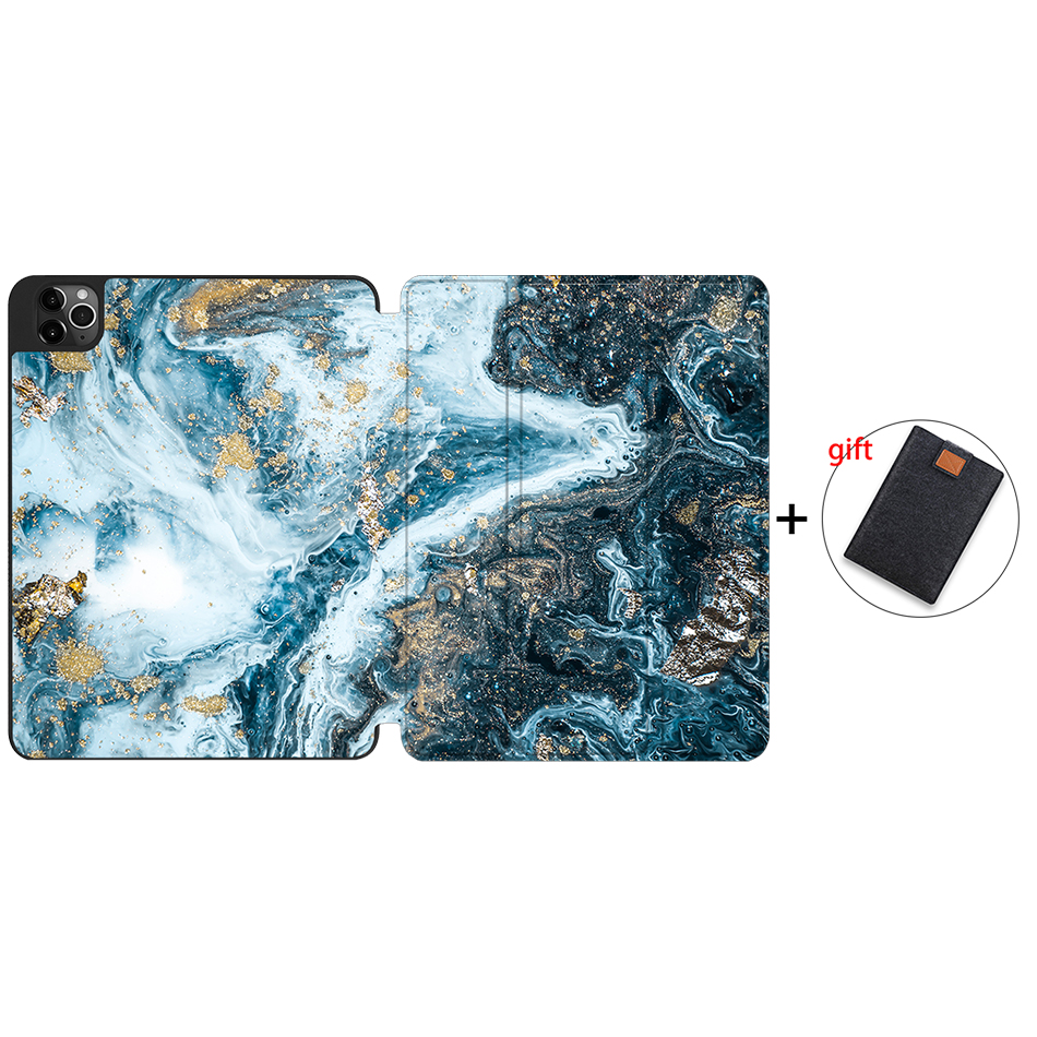 IPTPU03 White MTT Case For iPad Pro 12 9 inch 4th Generation Tablet 2020 Soft TPU PU Leather
