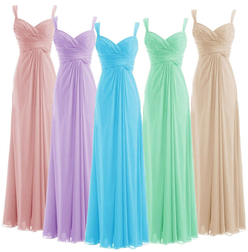 A-line Chiffon Sweetheart Spaghetti Straps Off-shoulder Cheap Bridesmaid Dresses Wedding Party Dresses Robe De Soiree Lace Up