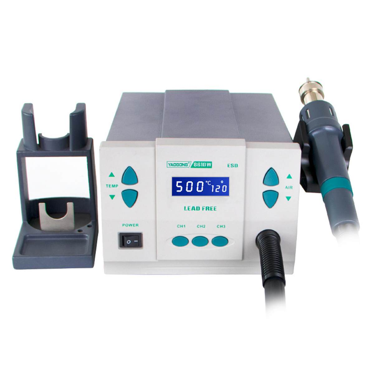 Original 1000W220/110V 861DW Heat Gun Lead Free Hot Air Soldering Station Microcomputer Temperature Rework Station 3nozzle