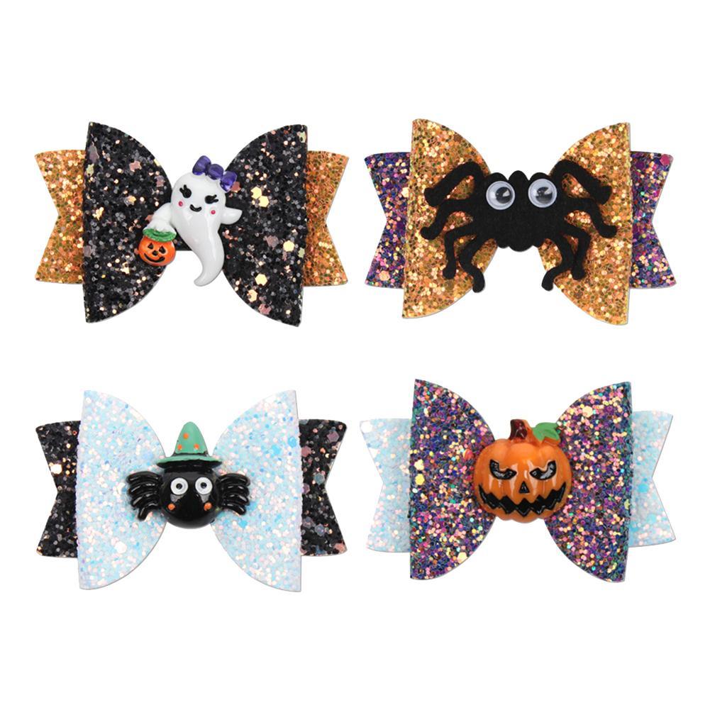 5pcs alloween Children Hairpin Pumpkin Bats Baby Hairpins Dress Up Hair Clip NEU