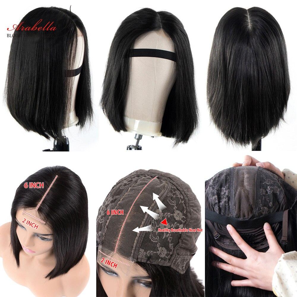 Straight Bob Wigs 100%  2*6 Closure Wig Virgin Hair Bob Wigs With Baby Hair Pre Plucked Arabella Short Bob Hair Wig 6