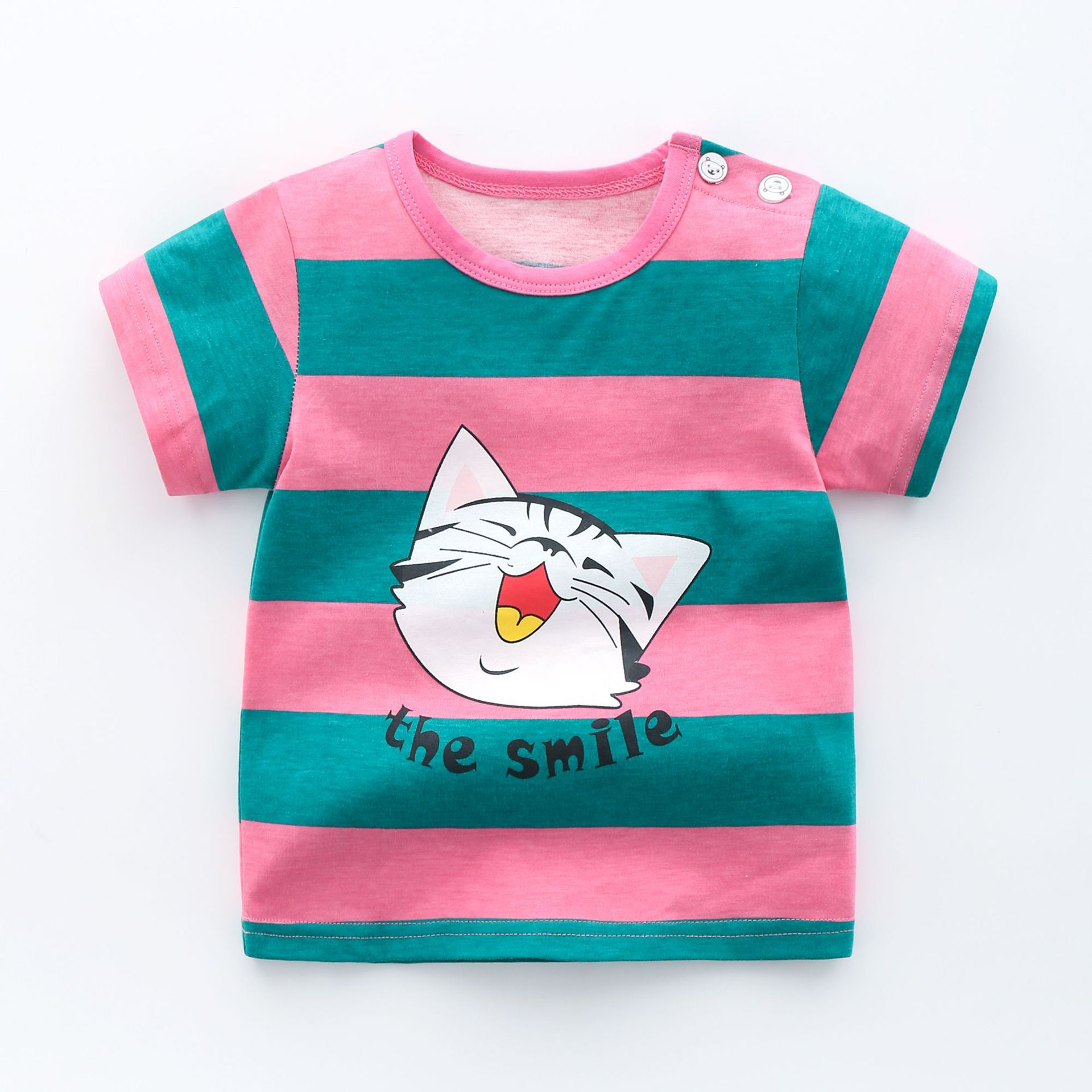 New Cartoon Baby Boys T-Shirts For Summer Infant Kids Short Sleeve Tees Baby Boy Girl  Clothes Cotton Toddler Tops