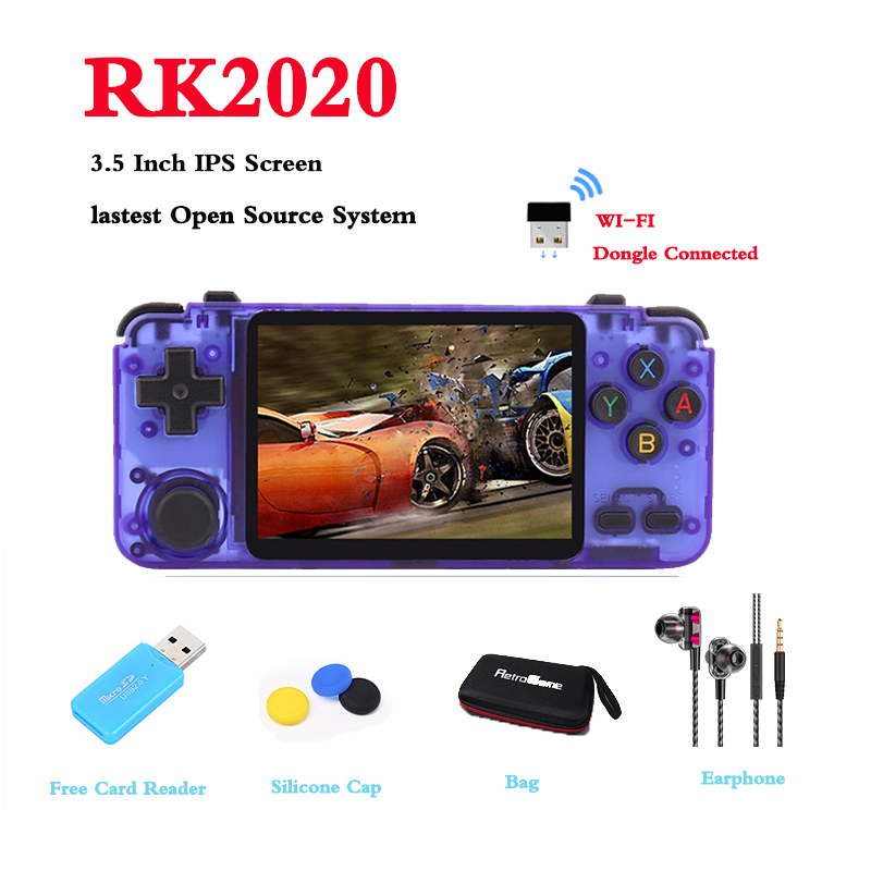 RK2020 Retro Handheld Game Console 3 5 Inch IPS Screen For N64 PS1 PSX CPS3 NES 64Bit Open Source System Built-in 15000  Games