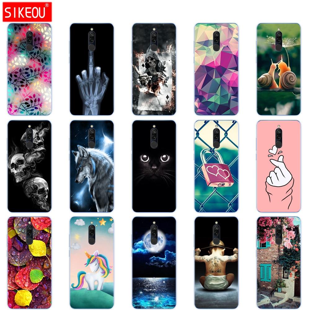 Silicon Case For Xiaomi Redmi 8 Cases Full Protection Soft Tpu Back Cover On Redmi 8 Bumper Hongmi 8 Phone Shell Bag Coque Cat