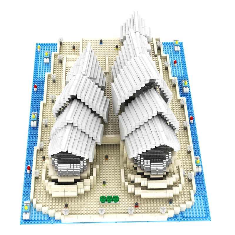 4131 Mini Kim Cương Khối Nổi Tiếng Kiến Trúc Thành Phố Nhà Hát Opera Sydney Xây Dựng Mô Hình Khối Gạch Đồ Chơi Giáo Dục Cho Quà Tặng